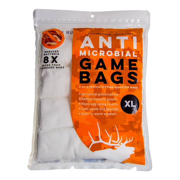 Anti-microbial Elk Quarter Game Bags XL