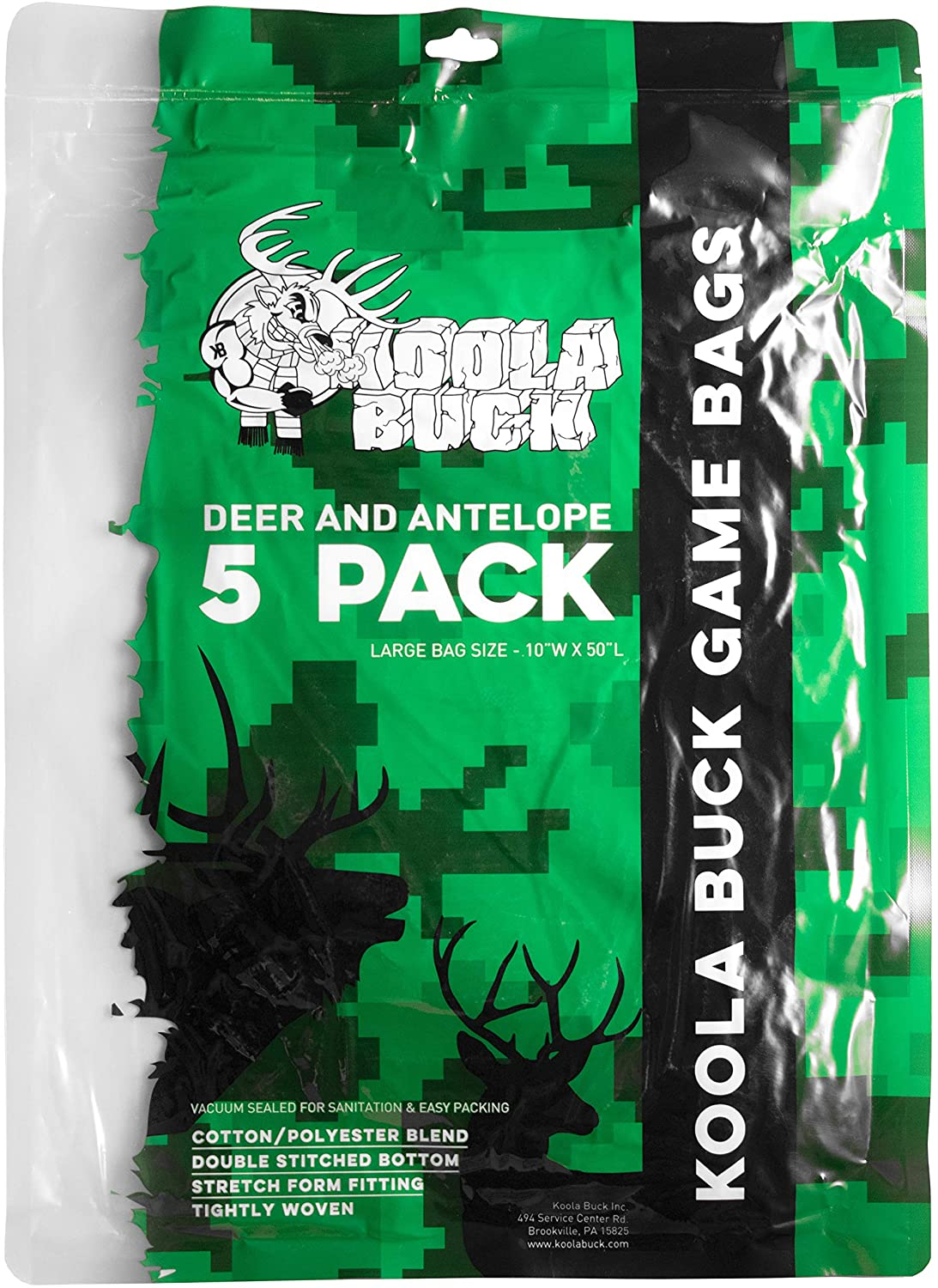 5-Pack Large Game Bags for Deer and Antelope