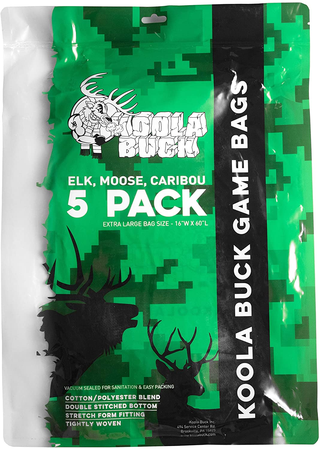 5-Pack XL Game Bags for Elk, Moose, and Caribou